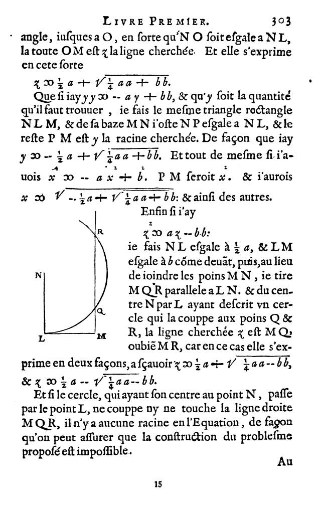 Le Livre Premier de La Géométrie de Descartes